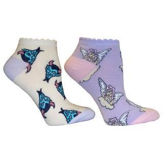 Betsey Johnson Women's Naughty and Nice Socks (Pack of 2)