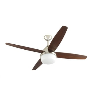 Mondeo Polished Nickel/ Walnut 4-blade Ceiling Fan
