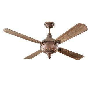 Monte Carlo Tuscany Roman Bronze 4-blade Ceiling Fan