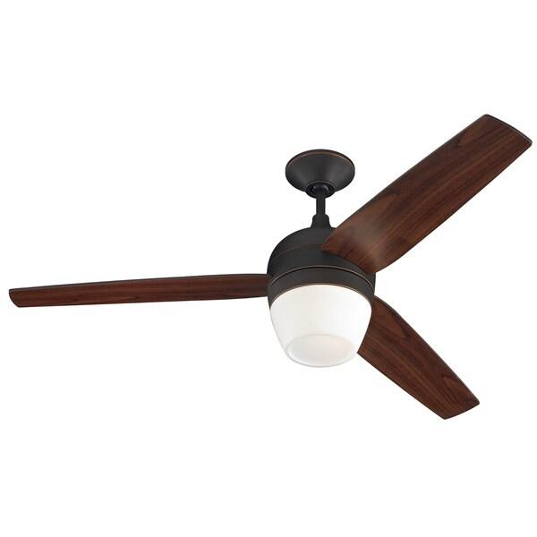 Monte Carlo Merlot Roman Bronze 3-blade Ceiling Fan