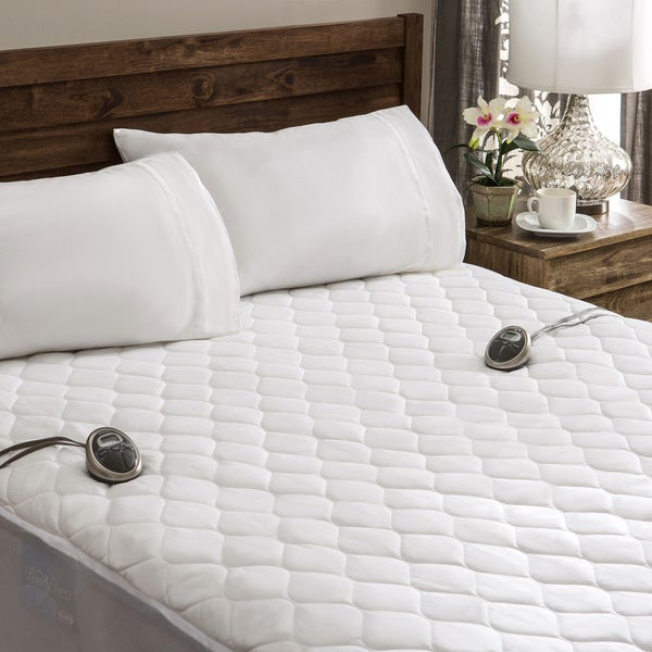 Dual Heated Mattress Pad Sunbeam Waterproof Queen-size Heated Electric Mattress Pad - 16357036 ...