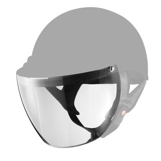 GLX Clear Snap-on Half Helmet Shield