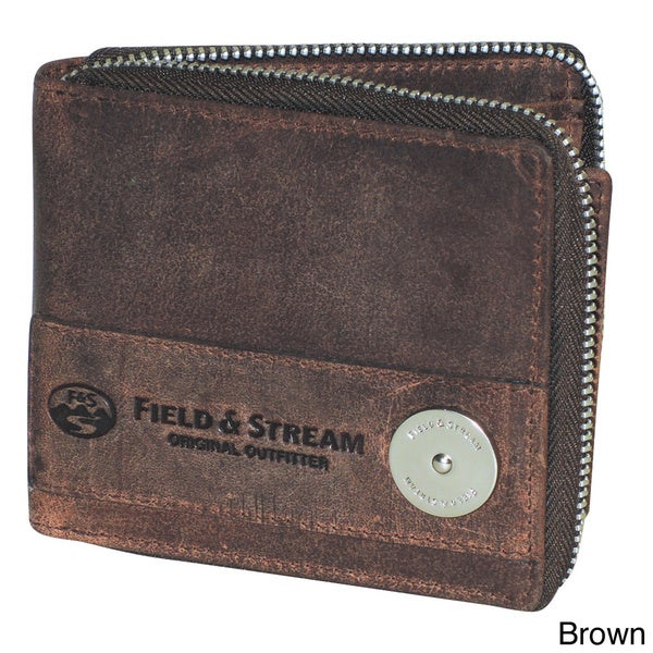 Field & Stream Ogden Zip Around Billfold Travel Wallet