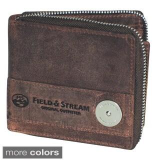 Field & Stream Ogden Zip Around Billfold Travel Wallet
