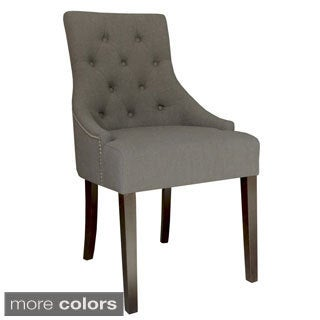 Paris II Linen Accent Chair with Stud Detailing (Set of 2)