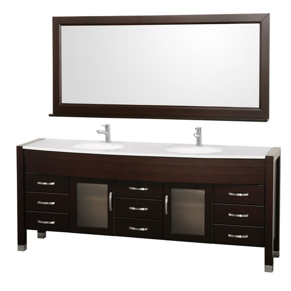 Wyndham Collection Daytona Espresso Eight Inch Double Sink Vanity And Mirror Free Shipping Today