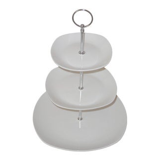 KitchenWorthy Ceramic Stonewire 3-tier Server