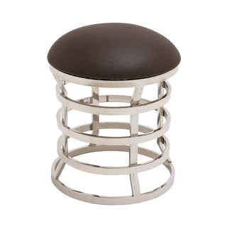 Alta Mira Steel/ Leather Contemporary Stool