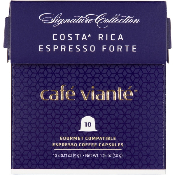 Cafe Viante Costa Rica Espresso Forte 70-pack Coffee Capsules for Nespresso Compatible Machines