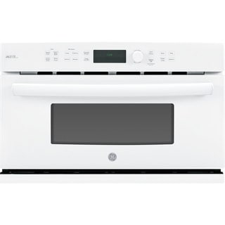 GE White 30-inch Electric Speed Oven with 1.7 Cubic Feet Capacity