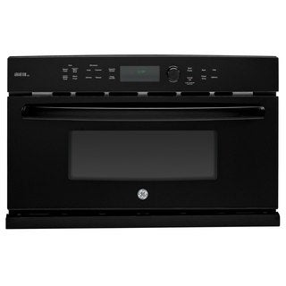 GE Black 30-inch Electric Speed Oven with 1.7 Cubic Feet Capacity
