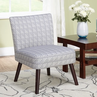 Delilah Grey Pattern Accent Chair