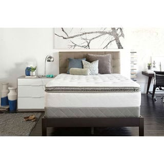 Sealy Posturpedic Gel Series Meadow Lea Plush Euro Pillowtop Queen-size Mattress Set