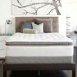 Sealy Posturpedic Gel Series Meadow Lea Cushion Firm Euro Pillowtop Twin-size Mattress Set
