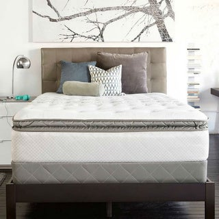 Sealy Posturpedic Gel Series Meadow Lea Cushion Firm Euro Pillowtop King-size Mattress Set
