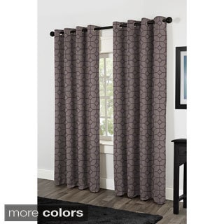 Devon Faux Silk Grommet Top 84-inch Curtain Panel Pair
