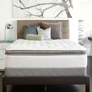 Sealy Posturpedic Gel Series Meadow Lea Plush Euro Pillowtop King-size Mattress Set