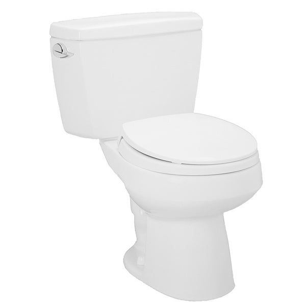 TOTO Cotton White Carusoe Round Bowl and Tank Toilet