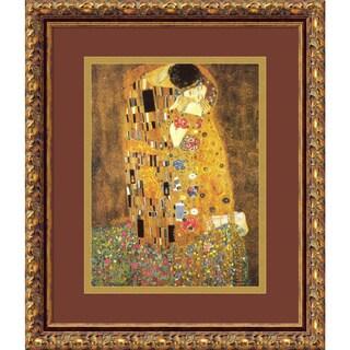 The Kiss (Le Baiser / Il Baccio), 1907' Framed Art Print 14 x 17-inch