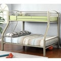 Furniture of America Olivane Modern Metallic Gold Twin-Full Bunk Bed