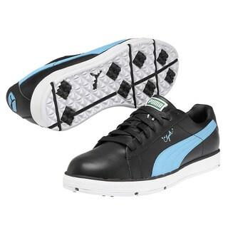 Puma Men's PG Clyde Black/Blue Atoll Golf Shoes