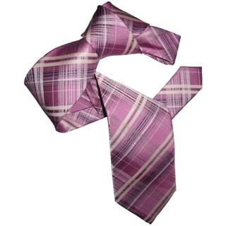 Dmitry Men's Elegant Pink Patterned Italian Silk Tie