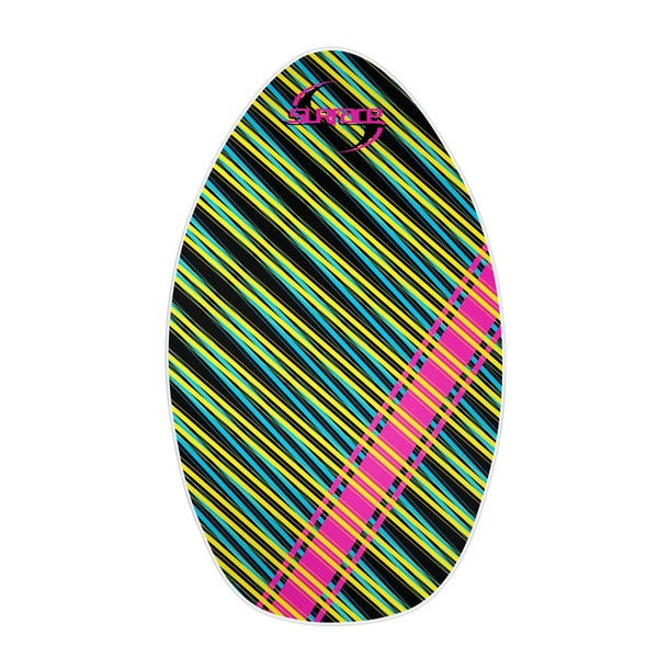 Surface 35-inch Wood Laminate Stripe Skimboard