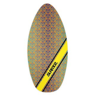 Surface 45-inch Wood Laminate Pattern Skimboard