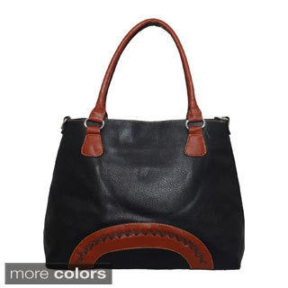 Vegan Leather Tote Handbag