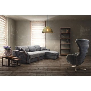 Zuo Brand Blue Denim Sectional Sofa