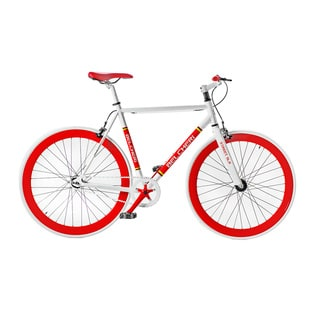 Belcheri Street SLR White/ Red Fixie Bicycle