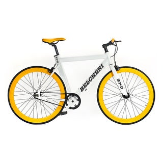 Belcheri NYC White/ Yellow Fixie Bicycle