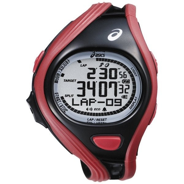 Asics Men's Challenge CQAR0404 Red Polyurethane Quartz Watch with Digital Dial