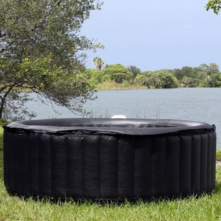 TheraPureSpa 6-person Round Inflatable Portable Hot Tub Spa