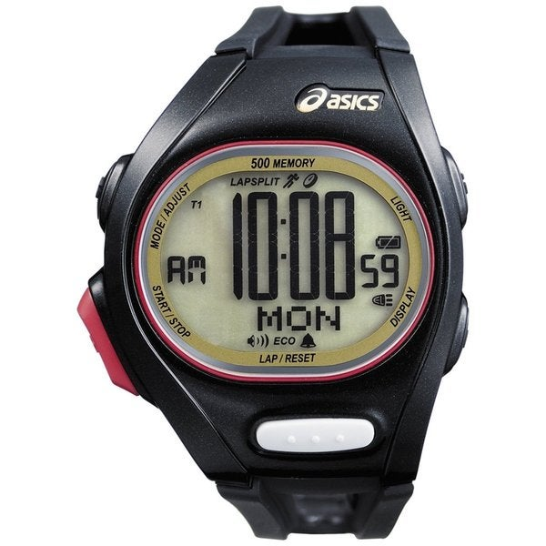 Asics Men's Race CQAR0207 Black Polyurethane Quartz Watch with Digital Dial