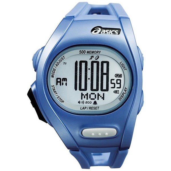 Asics Men's Race CQAR0105 Blue Polyurethane Quartz Watch with Digital Dial