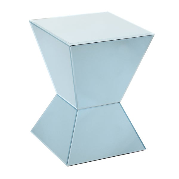 Arctic Blue Mirrored Pedestal
