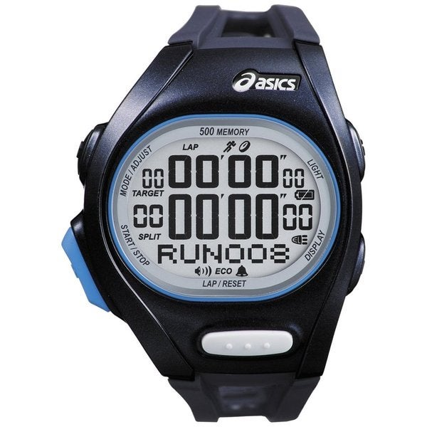 Asics Men's Race CQAR0202 Black Polyurethane Quartz Watch with Digital Dial