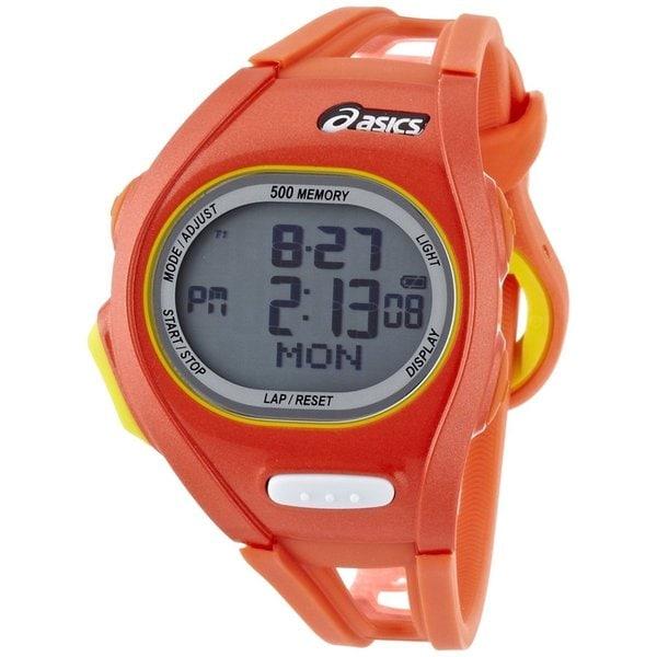 Asics Men's Race CQAR0107 Orange Polyurethane Quartz Watch with Digital Dial