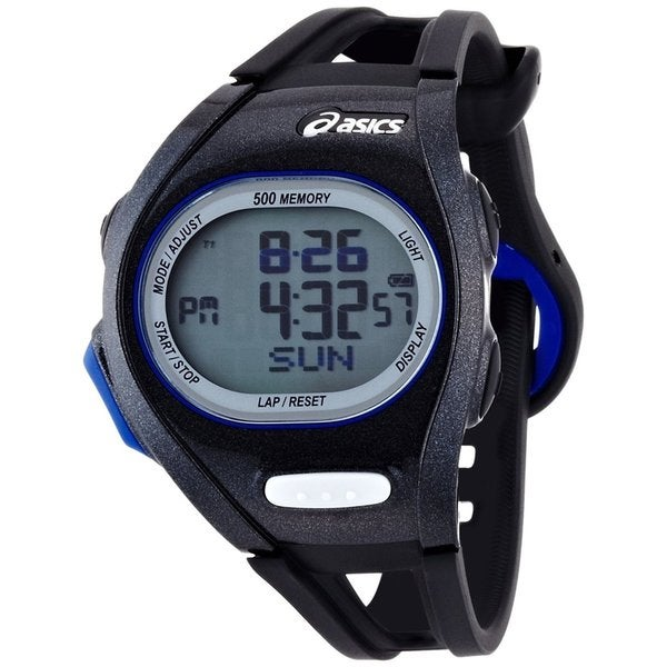 Asics Men's Race CQAR0101 Black Polyurethane Quartz Watch with Digital Dial