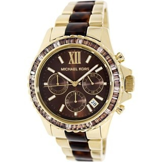 Michael Kors Women's MK5873 Everest Goldtone Stainless Steel Quartz Watch with Brown Dial