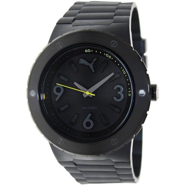 Puma Men's Blast PU103331002 Black Plastic Analog Quartz Watch with Black Dial