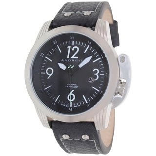 Android Men's Skyguardian AD614BK Brown Leather Automatic Watch with Black Dial