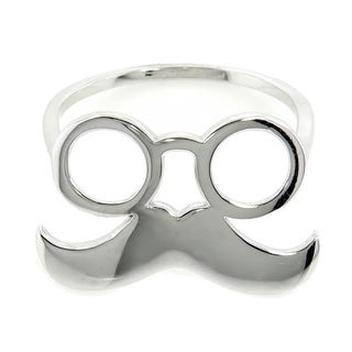 Eternally Haute Sterling Silver Mr. Mustachio Ring
