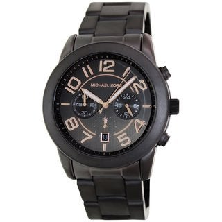Michael Kors Men's Mercer MK8330 Grey Stainless Steel Quartz Watch with Grey Dial