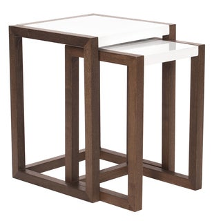 Java Brown Wood Nesting Tables (Set of 2)