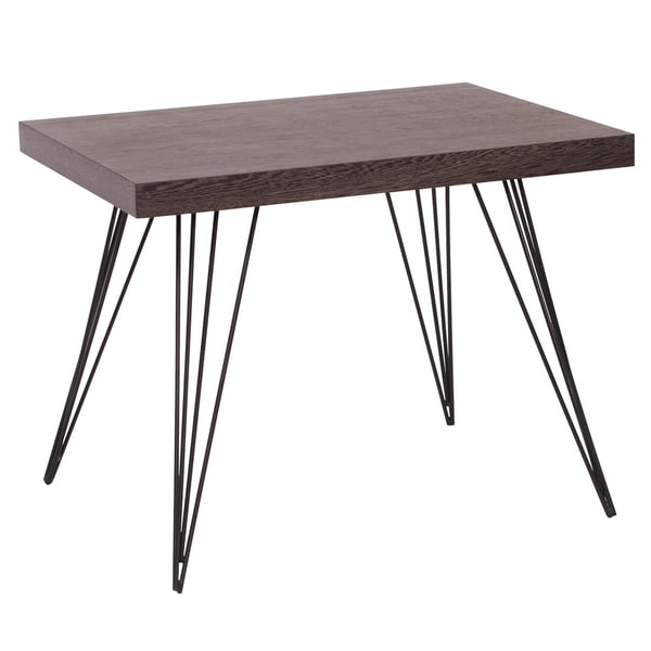 Black Ash and Wire End Table