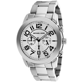Michael Kors Men's MK8290 Silvertone Stainless Steel Analog Quartz Watch with Silvertone Dial