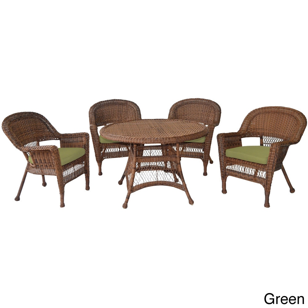 jeco Honey Wicker 5-piece Cushioned Outdoor Dining Set at Sears.com