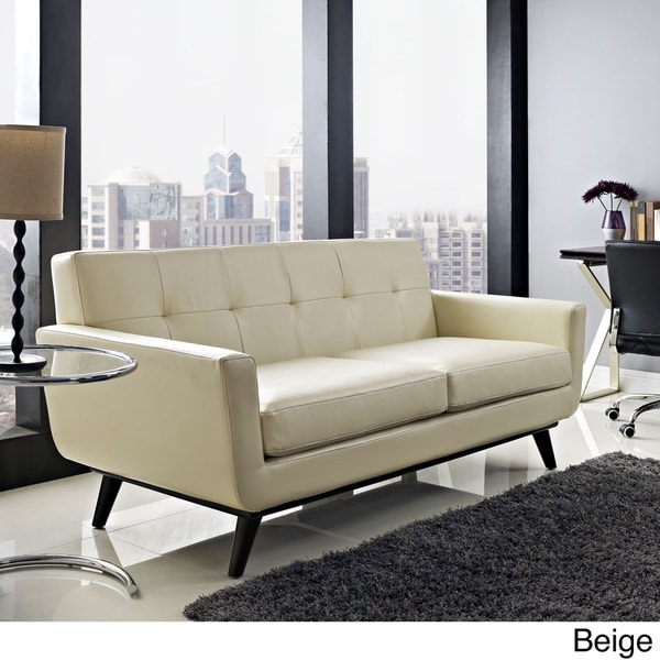 Engage Tufted Leather Loveseat